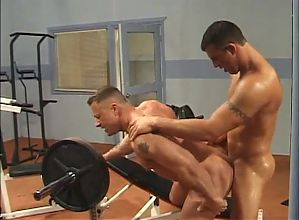 Two Muscle Hunks Gym Gay Sex By -SiNN-