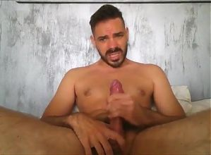 dad with a colossal cock jerking of