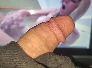 Sissy Throbs to Shemale Cock