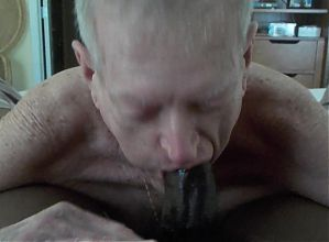 Grandpa sucks and eats cum