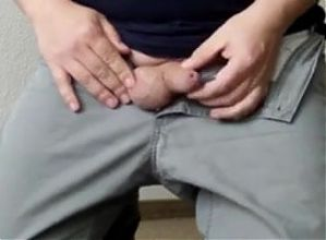 Dad gets his uncut cock out and wanks off