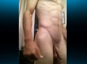 Handsome Boy Jerks His Big Dick,Hot Bubble Ass On Cam