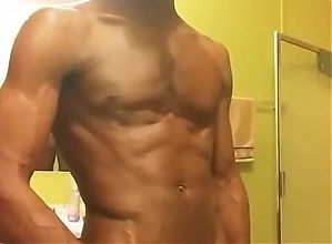 Black Man Showing off Dick in Restroom 002