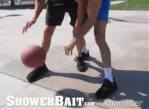 ShowerBait Basketball Buddies Hit The Showers For Sex