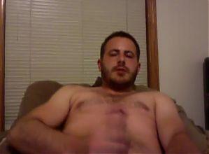 Hot guy jerks off